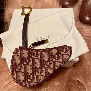 NWT Dior Burgundy Coin Purse